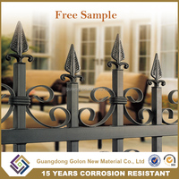 Best quality home garden wrought iron fence, decorative garden fencing, cheap fences panels used steel fencing for sale
