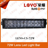 Factory wholesale 4D lens offroad led spot light bar 72w IP67 12V led bar for cars truck atv motorcycle car led light bar 12v