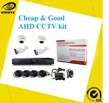 Cheap CCTV Kit, H.264 DIY 4 channel cctv camera DVR Kit with 4 cameras