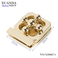 Good quality twist lock designer handbag hardware for tote bag