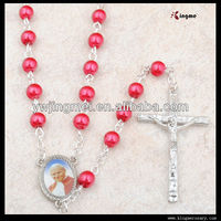 Yiwu Newest Fashion Imitation Pearl Beads Necklace Cheap Rosary Prayer