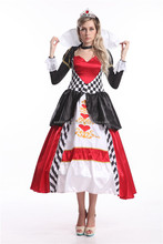 Sex XXL Deluxe Queen of Hearts Ladies Fancy Dress Costume Alice In Wonderland Costume Outfit rls Party Dresses