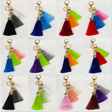 Yongze 2018 handbag decoration curtain 3d tassel ice rayon silk in small leather tassels for handbag cellphone
