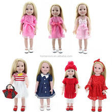 "China Factory Handmade Real Looking Soft Silicone Body 18"" Baby American Girl Doll for Sale"