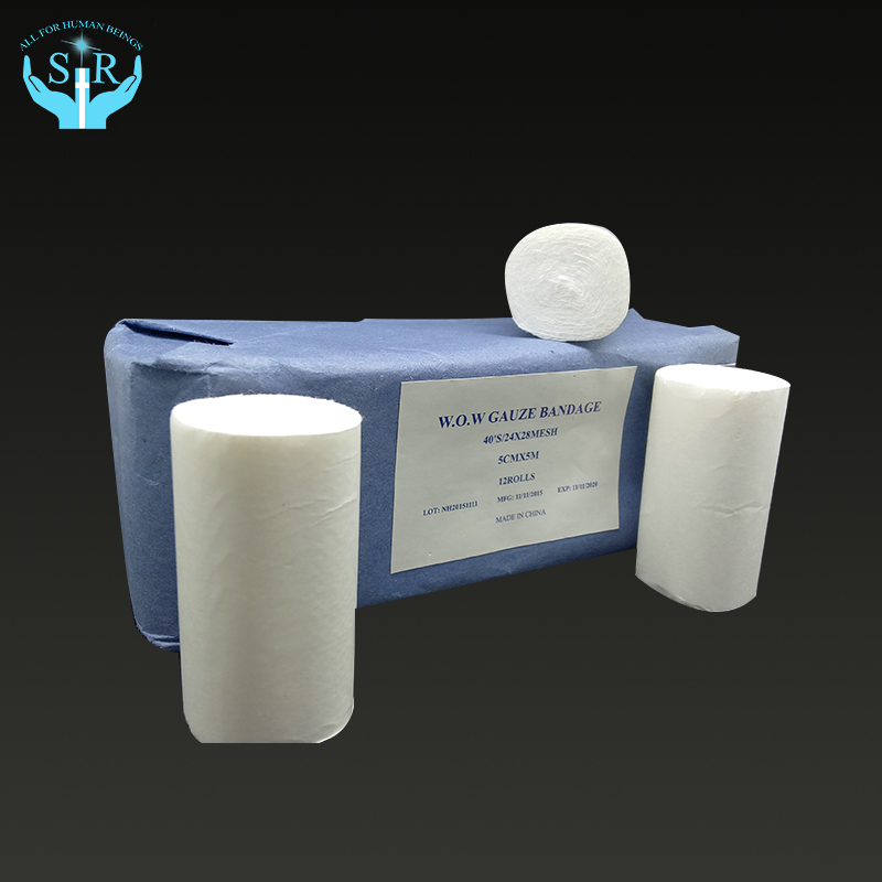 absorbent gauze roll for medical made of cotton