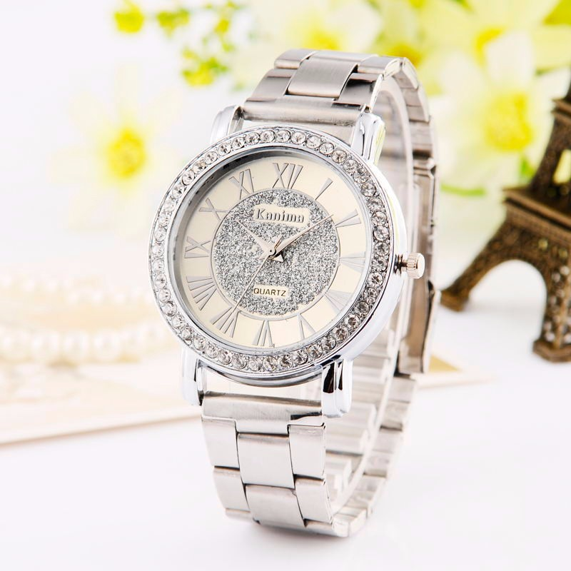 Top Brand Luxury Watches Fashion Casual Watch Rhinestones Women's Wristwatch Quartz Ladis Gold Rose relogio feminino Reloj
