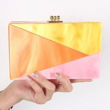 Women ladies party newstyle hard case clutch evening bags