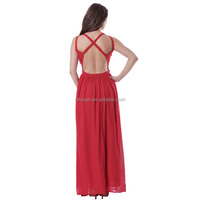 New arrival elegant chiffon casual women long new design maxi dress