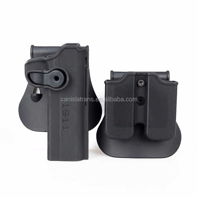 Airsoft pistol gun holster Portable Black Plastic Tactical Gun Holster for 1911
