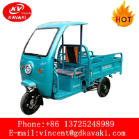 High Quality Cargo Use Battery Operate Electric Tricycle Three Wheel Motorcycle With Cabin Pedicab For Sale