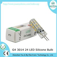 G4 White SMD 3014 24 LED Cabinet RV Light Lamp Bulb DC 12V 1.5W