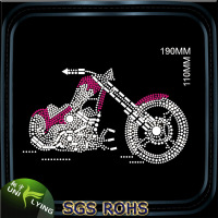 Cool Motorcycle Rhinestone Heat Transfer Designs