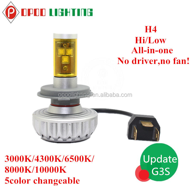 2015 Update G3S H4 Led Headlight, High Power Car Accessories H4 Led Headlight