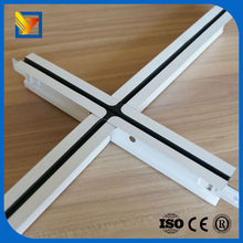 metal t-bar fireproof flat suspended ceiling t grid