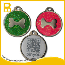 Good Quality Metal Personalized Stainless Steel qr id dog pet tag with unique code