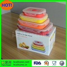 Silicone Lunch Containers - No BPA & China Made - Portion Control Set of 4