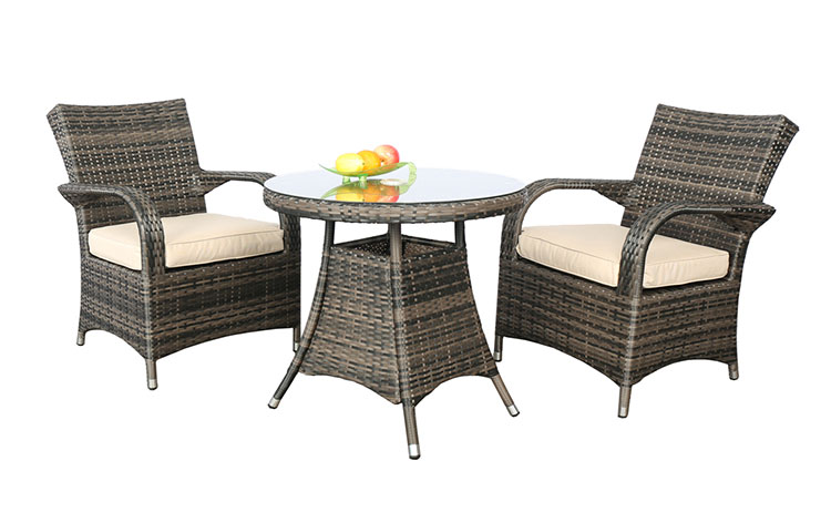 Promotional outdoor high top patio wicker table and chair