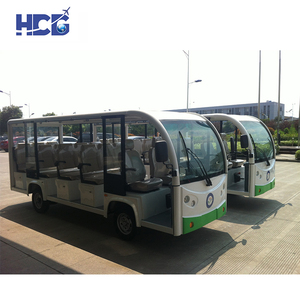Deluxe And Delicacy Sightseeing Car 14 Seats Shuttle Bus for Port