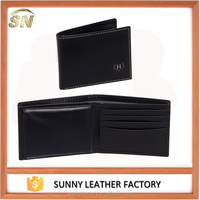 Luxury leather mens wallets leather wallet mens with ID window