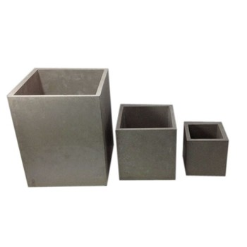 Square Pots Planters Cement 3 pcs As One Set
