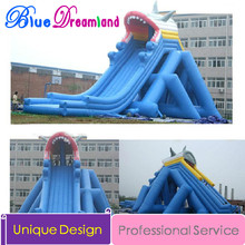 giant shark Inflatable water slide inflatable jumping trampoline inflatable bouncy castle