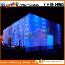 Outdoor Inflatable Cube Tent Inflatable Air Dome Tent with Led light