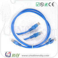 1m 2m 3m 5m 10m AMP UTP CAT5e 24AWG CCA BC Cable/Patch lead /Pacth Cord/ Jumper Wire, ROHS cover Fluke Passed