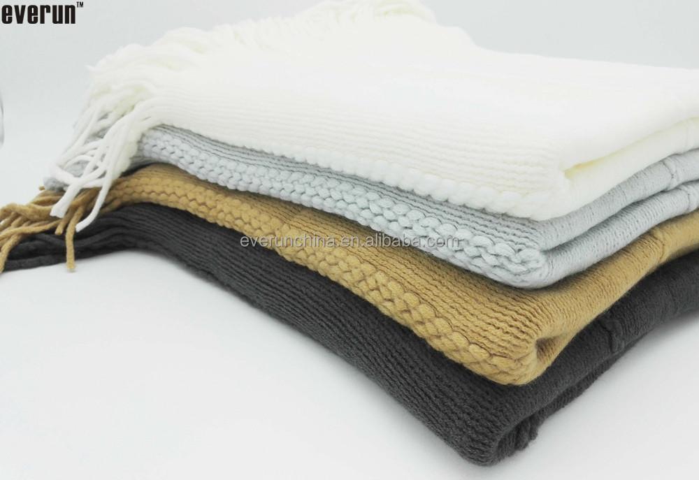 acryl streifen decke crochet decke stricken decke mit fransen wolldecke produkt id 233892554. Black Bedroom Furniture Sets. Home Design Ideas