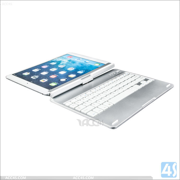 Luxury Aluminum Bluetooth wireless Case Keyboard for iPad Air