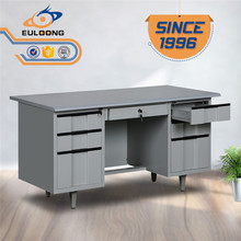 2017 rectangular executive office table design 7 drawers metal desk for sale