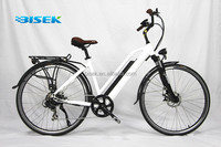 Europe bicicleta electrica OEM with suspension front fork 8fun motor CE EN15194