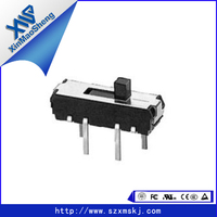 2 Position SPDT vertical slide switch 4 position slide switch mini size on-off 3 pin pcb