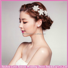 WC0012 New fashion top quality hot sale wholesalers bling shiny beautiful korean bridal <strong>hair</strong> <strong>accessories</strong>