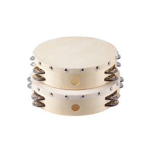 2018 Wholesale Sheepskin Colorful tambourine for musical instruments