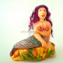 factory price make custom your own design Halloween gifts fantasy animal mermaid polyresin figure maker