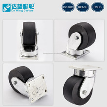 Top plate 3 inch width heavy-load 10 inch swivel stainless steel caster wheel