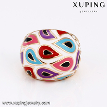 14377 fashion 18k gold colorful creative graceful exquisite personality new design ladies finger ring