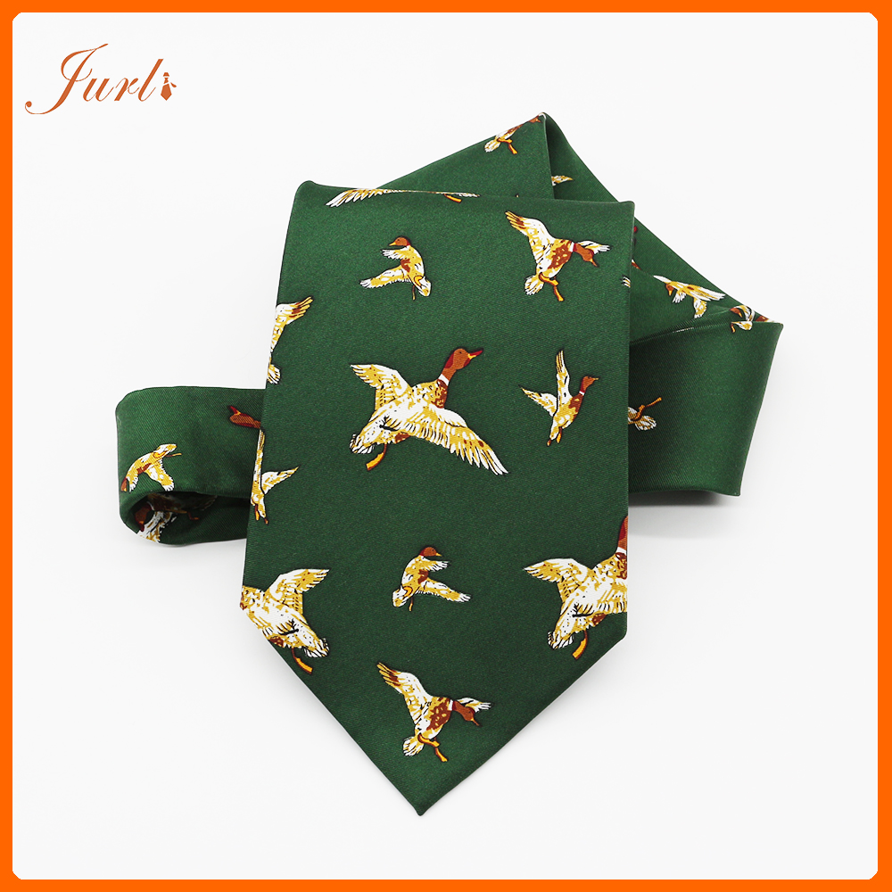Fashion Bird Pattern Custom Digital Printed Ties