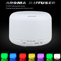 500ml Aromatherapy Essential Oil Diffuser Ultrasonic Air Humidifier with 4 Timer Settings,7 LED Color Changing Lamps