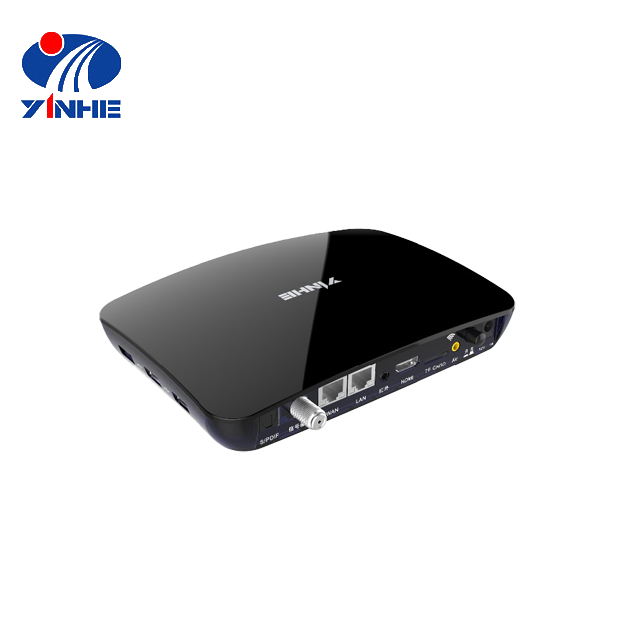 DVB-C + iptv set top box android media player transmitter and receiver