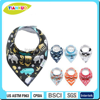 2017 hot selling back fleece baby bandana drool bib