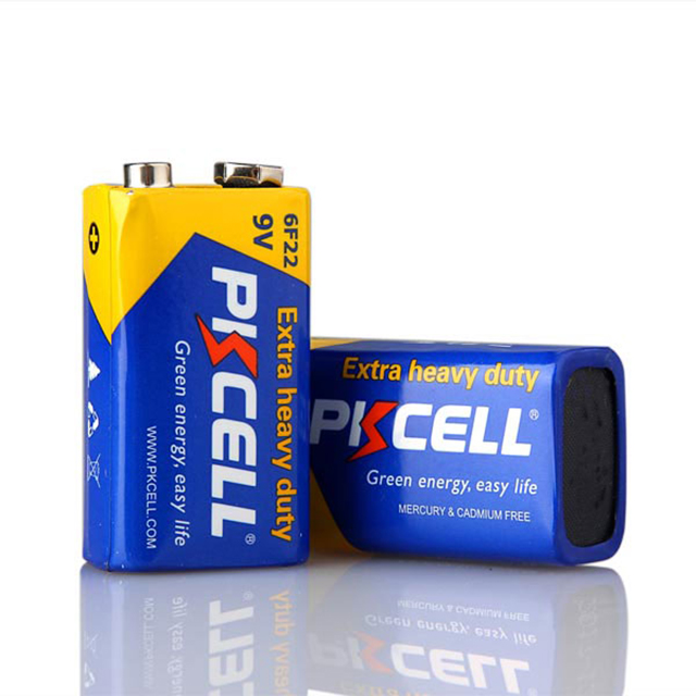 High power extra heavy duty dry cell 006p 6f22 9v carbon zinc battery for multimeter