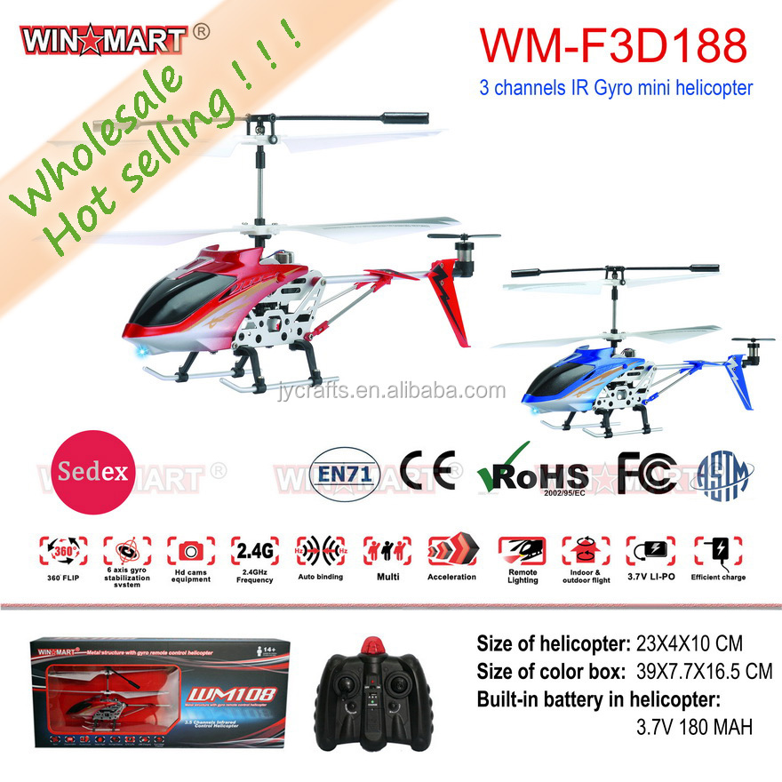 this month's special 3ch mini rc helicopter with gyro the cheapest wholesale 24pcs/ctn
