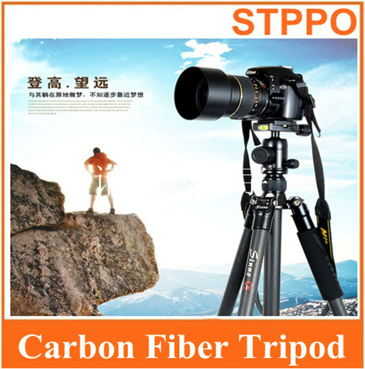Professional FC-3422 FC3422 Dragon Grain Carbon Fiber Tripod Kit 4 Sections Travel Tripod