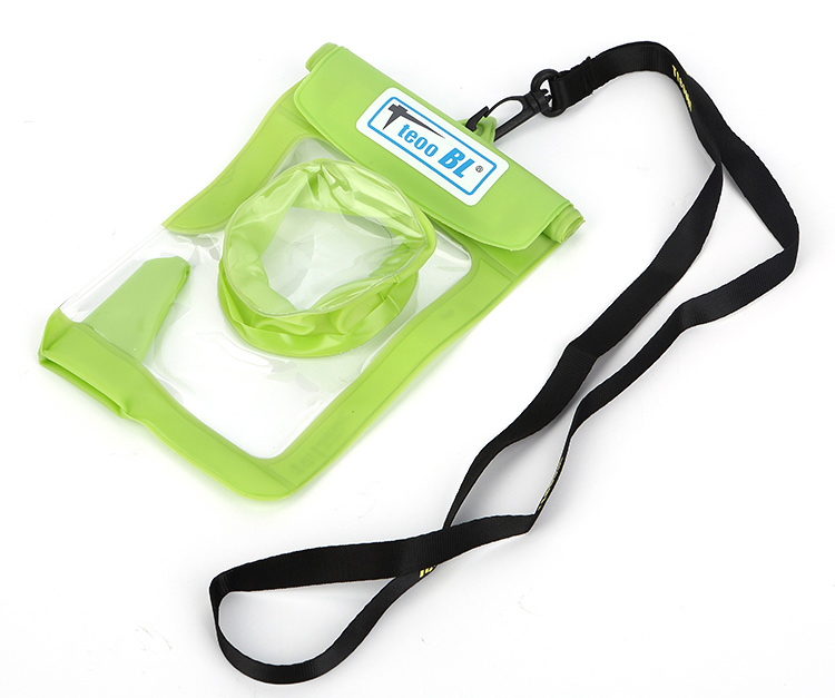 Portable Factory Sale Universal Waterproof Pvc Swimming Mobile Bag Pouch With String