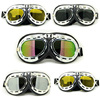 Scooter Goggles Windproof Glasses Ski Motorcycle Bicycle Pilot ATV Goggles Motorbike off road Goggle classic black Motocross