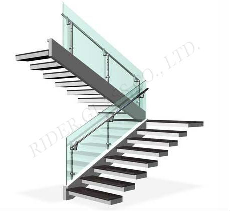 CE & ISO9001 1.3-19mm Insulated Tempered Tinted Glass Railing