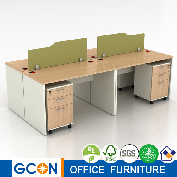 Discount office furniture mobile wooden computer work station table