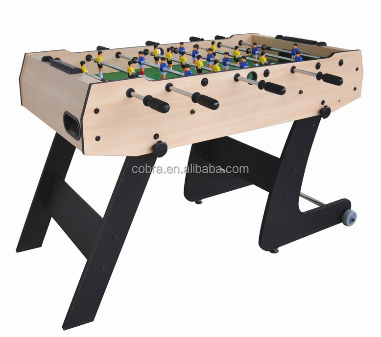 Factory easy assemble and store foldable leg soccer table