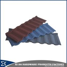 Cheap long span colorful stone coated metal roof tile / metal roofing tile sheet